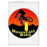 I bici de montaña tarjetas