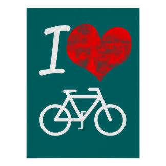 I bici del corazón póster
