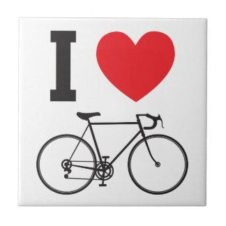 I bicicleta del corazón azulejo cuadrado pequeño