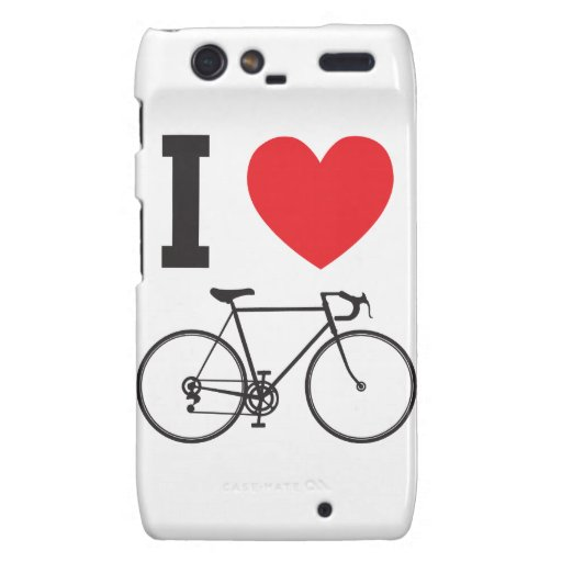 I bicicleta del corazón motorola droid RAZR carcasa