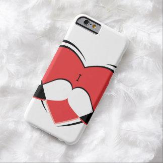 I/bigote conocido del amor del corazón funda barely there iPhone 6