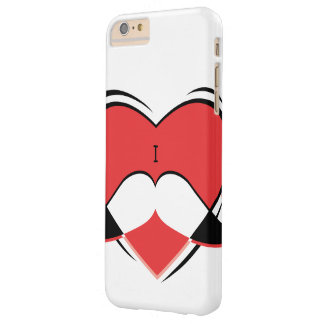 I/bigote conocido del amor del corazón funda barely there iPhone 6 plus