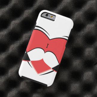 I/bigote conocido del amor del corazón funda resistente iPhone 6