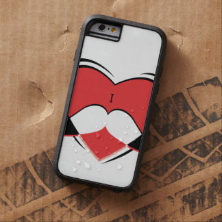 I/bigote conocido del amor del corazón funda tough xtreme iPhone 6