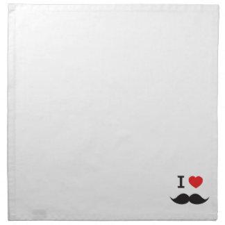 I bigote del corazón servilleta imprimida