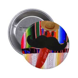 ¡I bigote… es bastante chile! Pin Redondo De 2 Pulgadas