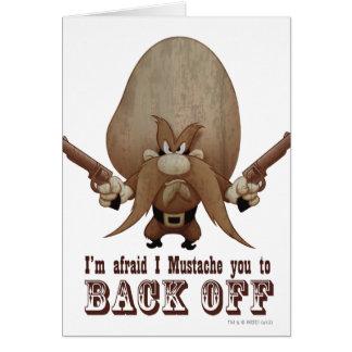 I bigote usted a retroceder tarjeta de felicitación