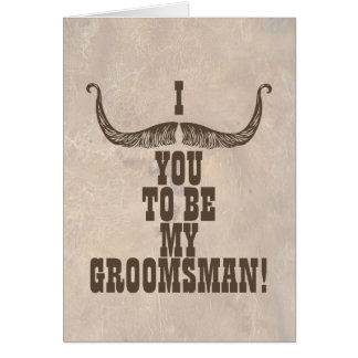 I bigote usted a ser mi mejor hombre tarjeta pequeña