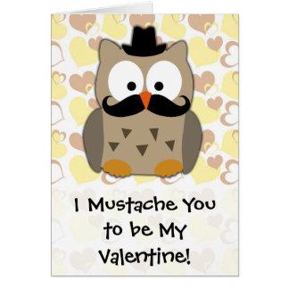 I bigote usted a ser mi tarjeta del día de San