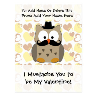 I bigote usted a ser mi tarjeta del día de San Postales