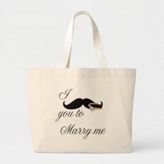 I bigote usted - casarme bolsa de mano