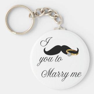 I bigote usted - casarme llaveros personalizados