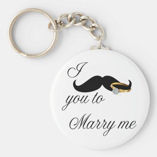 I bigote usted - casarme llavero redondo tipo pin