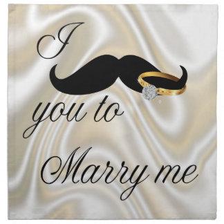 I bigote usted - casarme servilletas