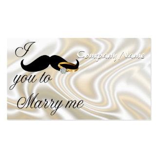 I bigote usted - casarme tarjetas de visita