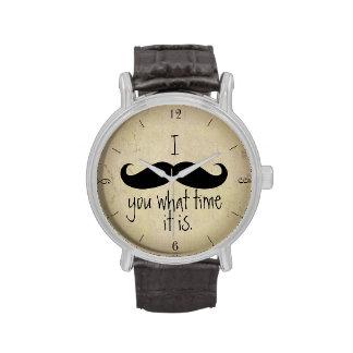 I bigote usted cuándo es divertido reloj