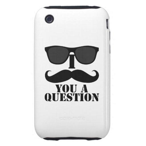 I bigote usted gafas de sol de una pregunta iPhone 3 tough carcasas