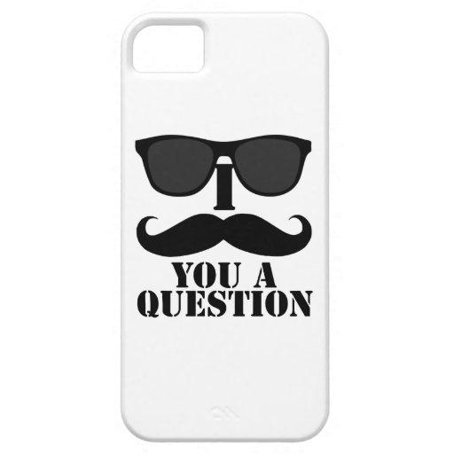 I bigote usted gafas de sol de una pregunta iPhone 5 Case-Mate cobertura