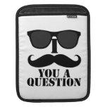 I bigote usted gafas de sol de una pregunta manga de iPad