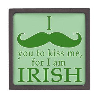 ¡I bigote usted para besarme soy irlandés! Caja De Joyas De Calidad