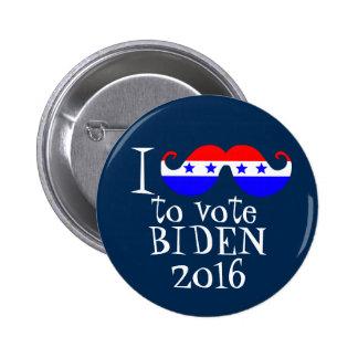I bigote usted para votar Biden 2016 Pin Redondo 5 Cm