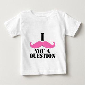 I bigote usted un bigote del rosa de la pregunta playera de bebé