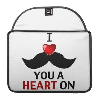 I bigote usted un corazón encendido fundas para macbook pro