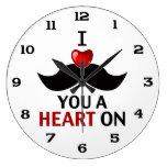 I bigote usted un corazón encendido relojes