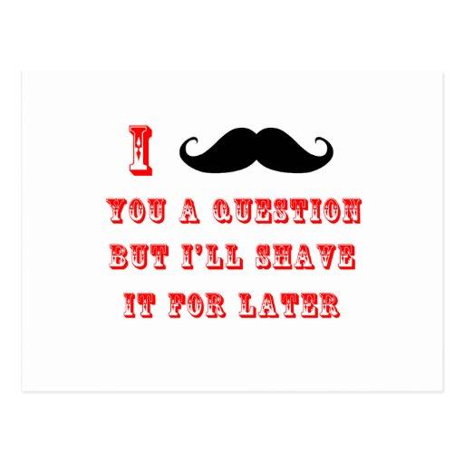I bigote usted un negro rojo de la imagen divertid postales
