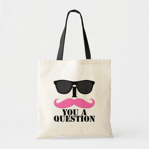 I bigote usted un rosa de la pregunta con las gafa bolsa tela barata