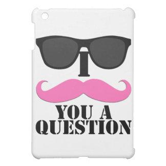 I bigote usted un rosa de la pregunta con las gafa