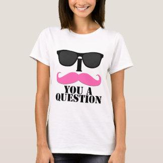 I bigote usted un rosa de la pregunta con las playera