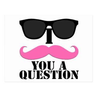 I bigote usted un rosa de la pregunta con las tarjetas postales