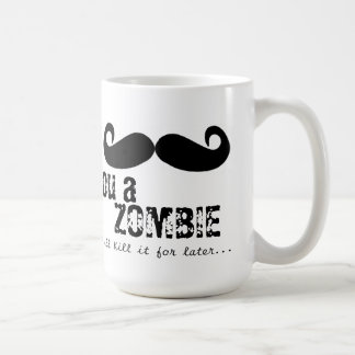 I bigote usted un zombi taza básica blanca