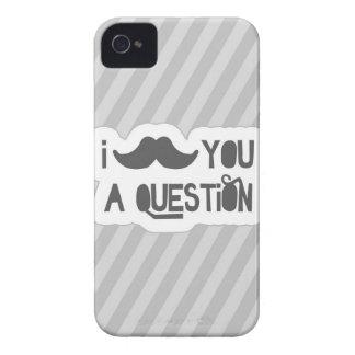 I bigote usted una pregunta iPhone 4 Case-Mate cárcasa