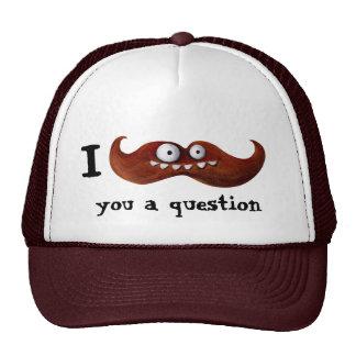 I bigote usted una pregunta… gorros bordados