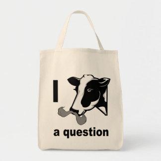 I bigote usted una pregunta - humor de la vaca bolsas