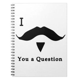 I bigote usted una pregunta libretas espirales