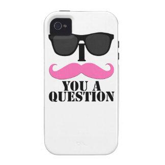 I bigote usted una pregunta para las mujeres iPhone 4/4S funda