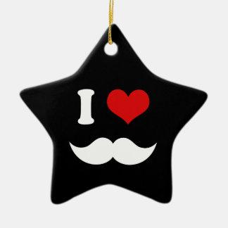 I bigotes del blanco del amor del corazón I Ornamentos De Reyes Magos
