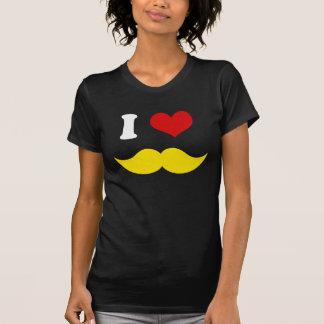 I bigotes rubios amarillos del amor del corazón I Remeras