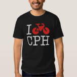 I Bike Copenhagen Dark Shirt