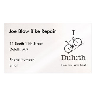 I Bike Duluth Business Card