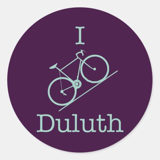I Bike Duluth Classic Round Sticker