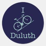 I Bike Duluth - light green Classic Round Sticker