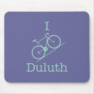 I Bike Duluth - light green Mouse Pad