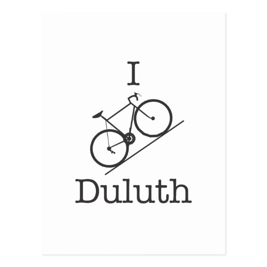 I Bike Duluth Postcard