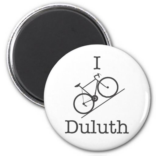 I Bike Duluth Refrigerator Magnets