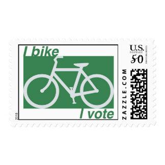 I bike I vote stamps