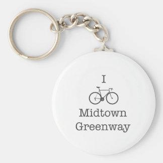 I Bike Midtown Greenway Keychain